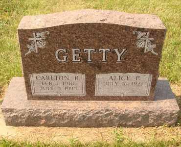 GETTY, ALICE P. - Hanson County, South Dakota | ALICE P. GETTY - South Dakota Gravestone Photos