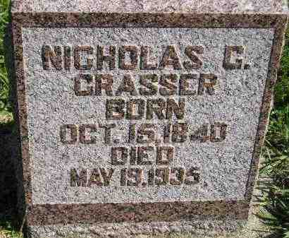 GRASSER, NICHOLAS C. - Hanson County, South Dakota | NICHOLAS C. GRASSER - South Dakota Gravestone Photos