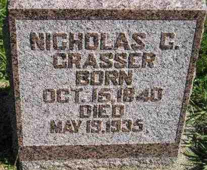 GRASSER, NICHOLAS C. - Hanson County, South Dakota | NICHOLAS C. GRASSER - South Dakota Gravestone Photos