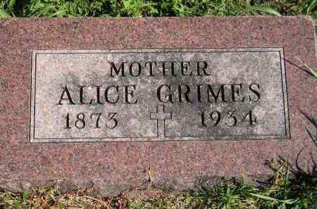 GRIMES, ALICE - Hanson County, South Dakota | ALICE GRIMES - South Dakota Gravestone Photos