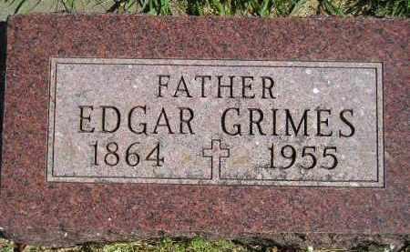 GRIMES, EDGAR - Hanson County, South Dakota | EDGAR GRIMES - South Dakota Gravestone Photos