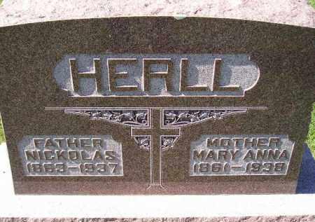 HERLL, MARY ANNA - Hanson County, South Dakota | MARY ANNA HERLL - South Dakota Gravestone Photos