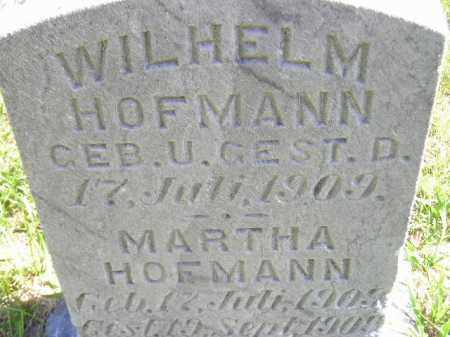 HOFMANN, WILHELM - Hanson County, South Dakota | WILHELM HOFMANN - South Dakota Gravestone Photos