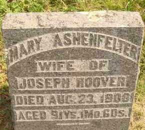 ASHENFELTER HOOVER, MARY - Hanson County, South Dakota | MARY ASHENFELTER HOOVER - South Dakota Gravestone Photos