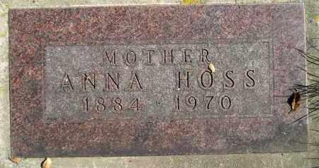 HOSS, ANNA - Hanson County, South Dakota | ANNA HOSS - South Dakota Gravestone Photos