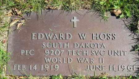 HOSS, EDWARD W. (WW II) - Hanson County, South Dakota   EDWARD W. (WW II) HOSS - South Dakota Gravestone Photos