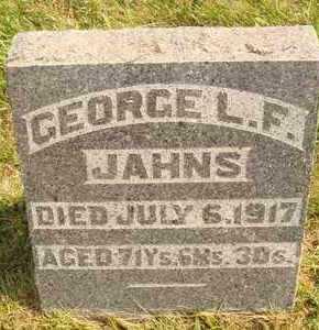 JAHNS, GEORGE L.F. - Hanson County, South Dakota | GEORGE L.F. JAHNS - South Dakota Gravestone Photos