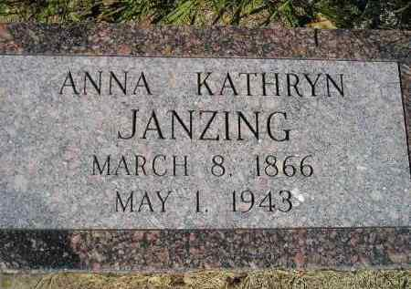 JANZING, ANNA KATHRYN - Hanson County, South Dakota | ANNA KATHRYN JANZING - South Dakota Gravestone Photos