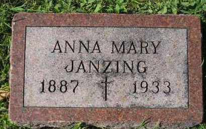JANZING, ANNA MARY - Hanson County, South Dakota | ANNA MARY JANZING - South Dakota Gravestone Photos