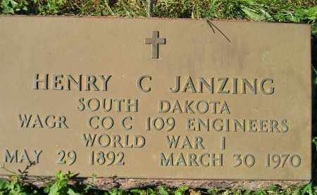 JANZING, HENRY C. (WW I) - Hanson County, South Dakota | HENRY C. (WW I) JANZING - South Dakota Gravestone Photos