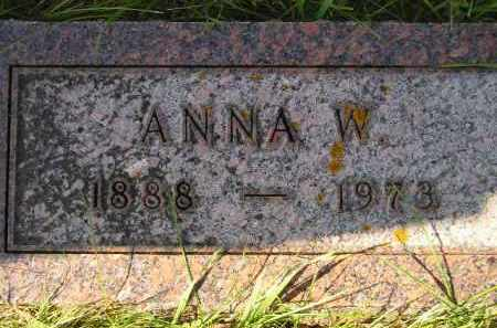 KAMPSHOFF, ANNA W. - Hanson County, South Dakota   ANNA W. KAMPSHOFF - South Dakota Gravestone Photos