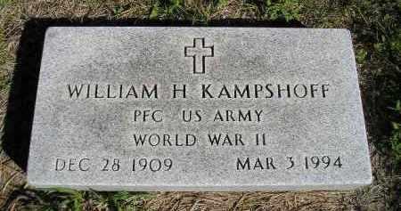KAMPSHOFF, WILLIAM H. (WW II) - Hanson County, South Dakota | WILLIAM H. (WW II) KAMPSHOFF - South Dakota Gravestone Photos