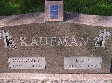 KAUFMAN, MATT - Hanson County, South Dakota | MATT KAUFMAN - South Dakota Gravestone Photos