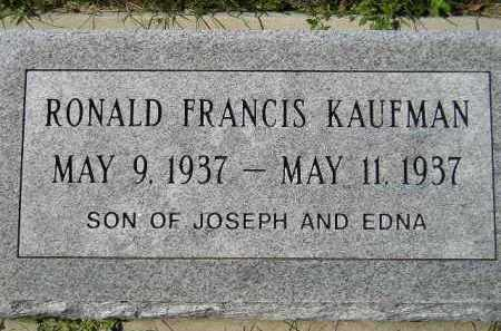 KAUFMAN, RONALD FRANCIS - Hanson County, South Dakota | RONALD FRANCIS KAUFMAN - South Dakota Gravestone Photos