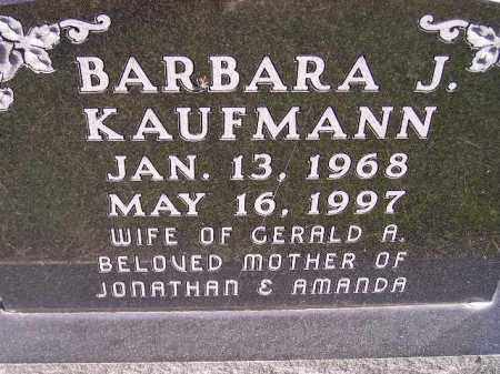 KAUFMANN, BARBARA J. - Hanson County, South Dakota | BARBARA J. KAUFMANN - South Dakota Gravestone Photos