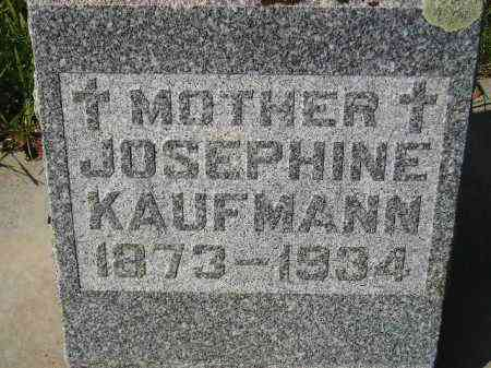 KAUFMANN, JOSEPHINE - Hanson County, South Dakota | JOSEPHINE KAUFMANN - South Dakota Gravestone Photos