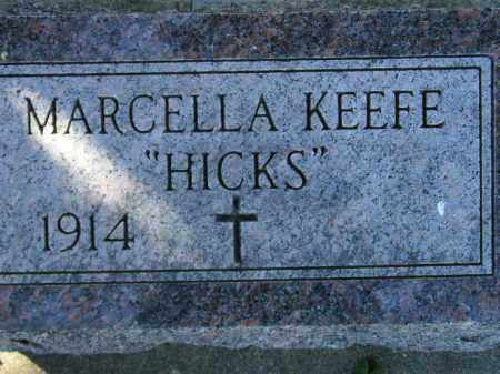 "KEEFE, MARCELLA ""HICKS"" - Hanson County, South Dakota 