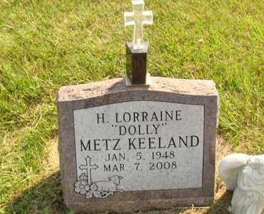 "METZ KEELAND, H. LORRAINE ""DOLLY"" - Hanson County, South Dakota   H. LORRAINE ""DOLLY"" METZ KEELAND - South Dakota Gravestone Photos"