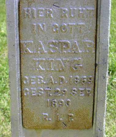 KING, KASPAR - Hanson County, South Dakota   KASPAR KING - South Dakota Gravestone Photos