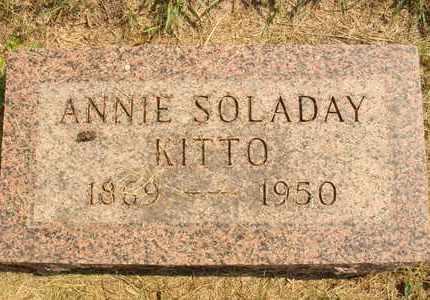SOLADAY KITTO, ANNIE - Hanson County, South Dakota | ANNIE SOLADAY KITTO - South Dakota Gravestone Photos