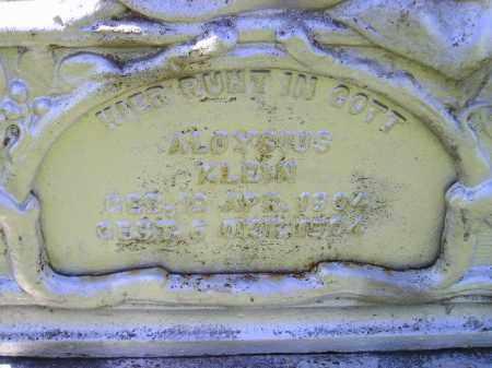 KLEIN, ALOYSIUS - Hanson County, South Dakota   ALOYSIUS KLEIN - South Dakota Gravestone Photos