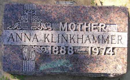 KLINKHAMMER, ANNA - Hanson County, South Dakota | ANNA KLINKHAMMER - South Dakota Gravestone Photos