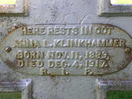 KLINKHAMMER, ANNA L. - Hanson County, South Dakota | ANNA L. KLINKHAMMER - South Dakota Gravestone Photos