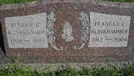 KLINKHAMMER, FRANCES L. - Hanson County, South Dakota | FRANCES L. KLINKHAMMER - South Dakota Gravestone Photos