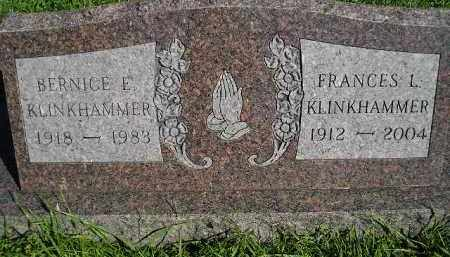 KLINKHAMMER, FRANCES L. - Hanson County, South Dakota | FRANCES L. KLINKHAMMER - South Dakota Gravestone Photos
