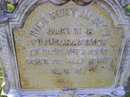KLINKHAMMER, JAKOB B. - Hanson County, South Dakota | JAKOB B. KLINKHAMMER - South Dakota Gravestone Photos