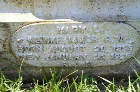 KLINKHAMMER, MARY L. - Hanson County, South Dakota | MARY L. KLINKHAMMER - South Dakota Gravestone Photos