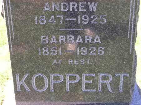 KOPPERT, BARBARA - Hanson County, South Dakota   BARBARA KOPPERT - South Dakota Gravestone Photos