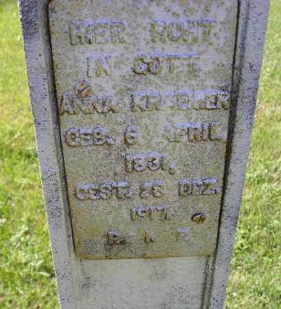 KRAEMER, ANNA - Hanson County, South Dakota | ANNA KRAEMER - South Dakota Gravestone Photos