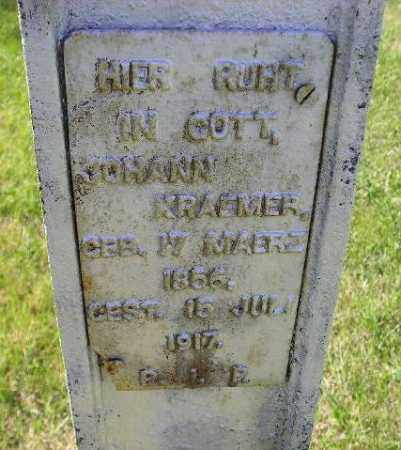 KRAEMER, JOHANN - Hanson County, South Dakota | JOHANN KRAEMER - South Dakota Gravestone Photos