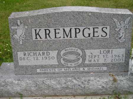 KREMPGES, RICHARD - Hanson County, South Dakota | RICHARD KREMPGES - South Dakota Gravestone Photos