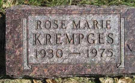 KREMPGES, ROSE MARIE - Hanson County, South Dakota | ROSE MARIE KREMPGES - South Dakota Gravestone Photos