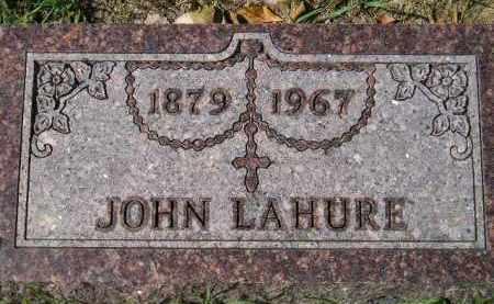 LAHURE, JOHN - Hanson County, South Dakota   JOHN LAHURE - South Dakota Gravestone Photos
