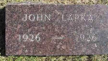 LAPKA, JOHN - Hanson County, South Dakota | JOHN LAPKA - South Dakota Gravestone Photos