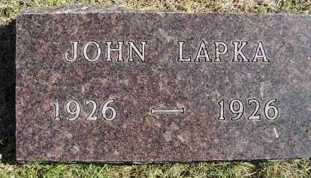 LAPKA, JOHN - Hanson County, South Dakota | JOHN LAPKA - South Dakota Gravestone Photos