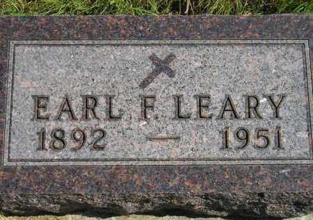 LEARY, EARL F. - Hanson County, South Dakota   EARL F. LEARY - South Dakota Gravestone Photos