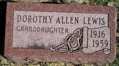ALLEN LEWIS, DOROTHY - Hanson County, South Dakota | DOROTHY ALLEN LEWIS - South Dakota Gravestone Photos