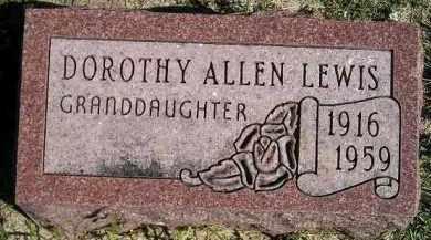 ALLEN LEWIS, DOROTHY - Hanson County, South Dakota   DOROTHY ALLEN LEWIS - South Dakota Gravestone Photos