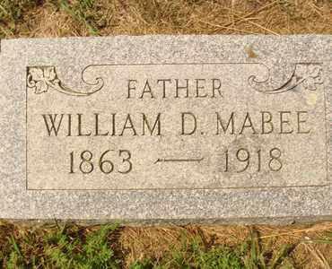 MABEE, WILLIAM D. - Hanson County, South Dakota | WILLIAM D. MABEE - South Dakota Gravestone Photos