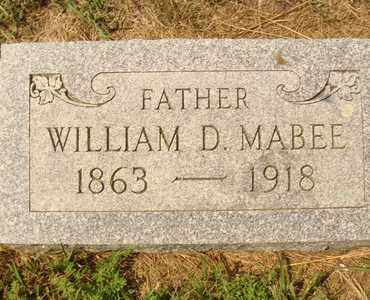 MABEE, WILLIAM D. - Hanson County, South Dakota | WILLIAM D. MABEE - South Dakota Gravestone Photos