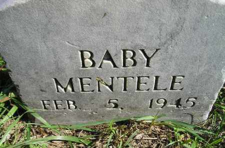MENTELE, BABY - Hanson County, South Dakota | BABY MENTELE - South Dakota Gravestone Photos