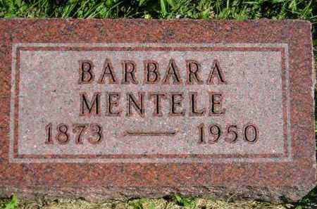 MENTELE, BARBARA - Hanson County, South Dakota | BARBARA MENTELE - South Dakota Gravestone Photos