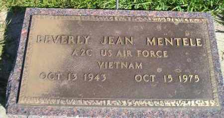 MENTELE, BEVERY JEAN (MILITARY) - Hanson County, South Dakota | BEVERY JEAN (MILITARY) MENTELE - South Dakota Gravestone Photos
