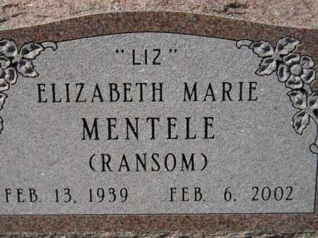 MENTELE, ELIZABETH MARIE - Hanson County, South Dakota   ELIZABETH MARIE MENTELE - South Dakota Gravestone Photos
