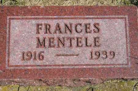MENTELE, FRANCES - Hanson County, South Dakota   FRANCES MENTELE - South Dakota Gravestone Photos