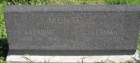 MENTELE, KATHRINE - Hanson County, South Dakota | KATHRINE MENTELE - South Dakota Gravestone Photos